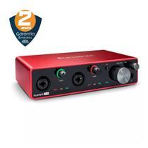 Interface de Áudio Focusrite Scarlett 4i4 de 3ª Geração - USB -
