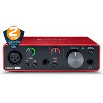Interface de Áudio Focusrite Scarlett Solo de 3ª Geração - USB -