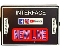 Interface de Áudio Tradicional Profissional New Live -