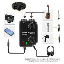 Interface Pré-amp Comica Linkflex Ad-3 P3 3,5mm P/smartphone -