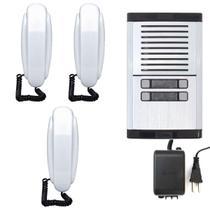 Interfone 3 Pontos HDL Porteiro Eletrônico Coletivo Predial Condomínio MPS -