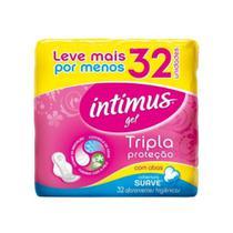 Intimus Gel Absorvente Higiênico Suave C/ Abas C/32 -