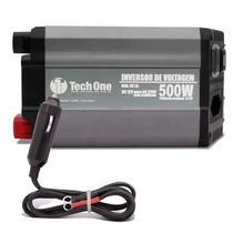 Inversor Tech One 500W 12V para 220V Conversor Tomada USB - Techone
