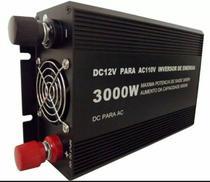Inversor Veicular Estabilizado  3000w Automotivo 12v Para 220v C 2 Tomadas Transformador de Voltagem - Lukcy amazonia