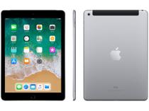 "iPad 6 Apple 4G 128GB Cinza Espacial Tela 9.7"" - Retina Proc. Chip A10 Câm. 8MP + Frontal iOS 11"