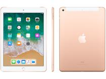 "iPad 6 Apple 4G 128GB Dourado Tela 9.7"" - Retina Proc. Chip A10 Câm. 8MP + Frontal iOS 11"