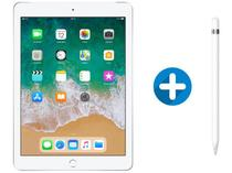 "iPad 6 Apple 4G 128GB Prata Tela 9.7"" - Retina Proc. Chip A10 Câm. 8MP + Apple Pencil"