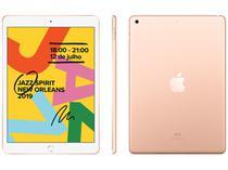 """iPad 7 Geração Apple 32GB Dourado Tela 10,2"""" - Retina Proc. Chip A10 Câm. 8MP + Frontal 1,2MP"""
