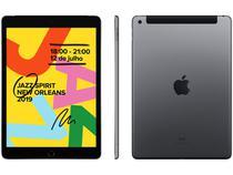 """iPad 7 Geração Apple 4G 32GB Cinza Espacial - Tela 10,2"""" Proc. Chip A10 Câm. 8MP + Frontal 1,2MP"""