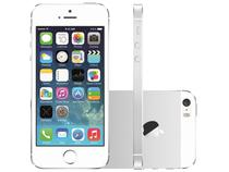 "iPhone 5S Apple 16GB Prata 4G Tela 4"" Retina  - Câmera 8MP iOS 7 Proc. M7 Touch ID"
