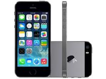 "iPhone 5s Apple 32GB iOS 8 Tela 4"" 3G Wi-Fi - Câmera 8MP Grava HD GPS Proc. M7 - Cinza Espacial"