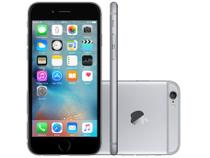 "iPhone 6 Apple 128GB 4G iOS 8 Tela 4.7"" Câm. 8MP - Proc. A8 Touch ID Wi-Fi GPS NFC Cinza Espacial"