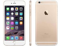 "iPhone 6 Plus Apple 64GB 4G iOS 8 Tela 5.5"" - Câm. 8MP Proc. A8 Touch ID Wi-Fi GPS NFC Dourado"