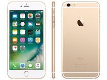 "iPhone 6s Plus Apple 128GB Dourado 4G Tela 5.5"" - Retina Câm. 12MP + Selfie 5MP iOS 10 Proc. Chip A9"