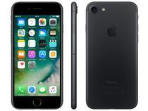 """iPhone 7 Apple 128GB Preto Matte 4G Tela 4.7"""" - Retina Câm. 12MP + Selfie 7MP iOS 10"""