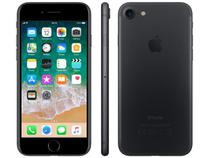 "iPhone 7 Apple 128GB Preto Matte 4G Tela 4.7"" - Retina Câm.12MP +Selfie 7MP iOS 11 Proc. Chip A10"