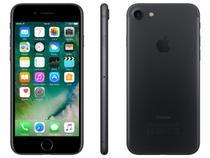 """iPhone 7 Apple 256GB Preto Matte 4G Tela 4.7"""" - Retina Câm.12MP +Selfie 7MP iOS 10 Proc. Chip A10"""