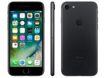 """iPhone 7 Apple 256GB Preto Matte 4G Tela 4.7"""" - Retina Câm. 12MP + Selfie 7MP iOS 10"""