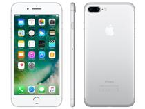 "iPhone 7 Plus Apple 128GB Prateado 4G Tela 5.5"" - Retina Câm. 12MP + Selfie 7MP iOS 10"