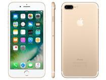"iPhone 7 Plus Apple 256GB Dourado 4G Tela 5.5""  - Câm. 12MP + Selfie 7MP iOS 10 Proc. Chip A10"