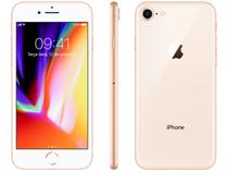"iPhone 8 Apple 128GB Dourado 4G Tela 4,7"" Retina - Câmera 12MP + Selfie 7MP iOS 13 Proc. Chip A11"