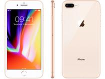 "iPhone 8 Plus Apple 256GB Dourado 4G  - Tela 5,5"" Retina Câmera 12MP iOS 11 Proc. Chip A11"