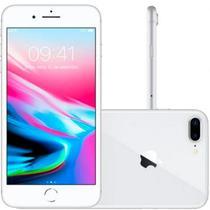"""iPhone 8 Plus Apple 64GB Prata Tela Retina HD 5,5"""" IOS 11 4G e Câmera de 12 MP -"""