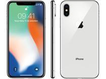"iPhone X Apple 64GB Prata 4G Tela 5,8"" Retina  - Câmera 12MP + Selfie 7MP iOS 11 Proc. Chip A11"