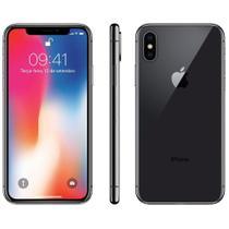 "Iphone X Apple, Cinza Espacial, Tela 5.8"", 4G+WiFi+NFC, IOS 11, 12MP, 64GB - Red Apple"