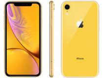 "iPhone XR Apple 128GB Amarelo 4G Tela 6,1"" Retina - Câm. 12MP + Selfie 7MP iOS 12 Proc. Chip A12"