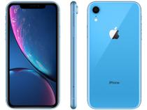 "iPhone XR Apple 128GB Azul 4G Tela 6,1"" Retina  - Câm. 12MP + Selfie 7MP  iOS 12 Proc. Chip A12"