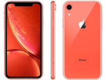 "iPhone XR Apple 128GB Coral 4G Tela 6,1"" Retina - Câmera 12MP + Selfie 7MP iOS 12 A12 Bionic Chip"