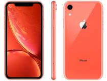 "iPhone XR Apple 64GB Coral 4G Tela 6,1"" Retina - Câmera 12MP + Selfie 7MP iOS 12 A12 Bionic Chip"