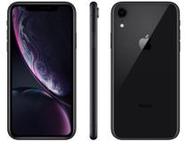 "iPhone XR Apple 64GB Preto 4G Tela 6,1"" Retina - Câmera 12MP + Selfie 7MP iOS 12 A12 Bionic Chip"