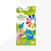 Isababy Zoo Maped Giz De Dedos 10 Cores 1 Unidade -