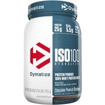 Iso 100 (725g) sabor chocolate com amendoim - dymatize nutrition -