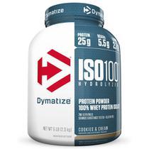 Iso 100 Whey Isolado e Hydrolisado 2,3kg - (Morango) - Dymatize nutrition