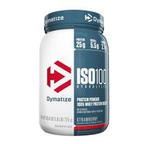 ISO100 WHEY PROTEIN HIDROLISADO (1.6lb) - Morango - Dymatize Nutrition -