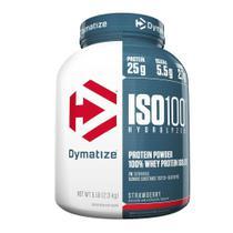 ISO100 WHEY PROTEIN HIDROLISADO (5lb) - Morango - Dymatize Nutrition -
