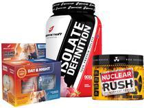 Isolate Definition + Kit Abdomen Dia Noite + Nuclear Rush Bodyaction -