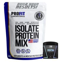 Isolate Protein Mix 900g Refil Profit + Creatina 100g Dark Lab - PROFIT LABORATÓRIO