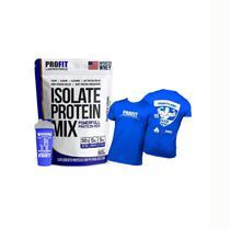 Isolate Protein Mix Refil 900g  + Camisa Azul + Coqueteleira Profit Labs - PROFIT LABORATÓRIO