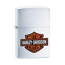 Isqueiro Zippo 200HD.H252 Harley-Davidson Logo Colorido Escovado -
