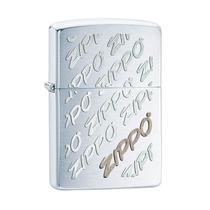 Isqueiro Zippo 28642 Classic Twist Logo Escovado -