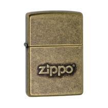 Isqueiro Zippo 28994 Classic Bronze Antigo com Logo -