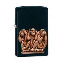 Isqueiro Zippo 29409 Classic Three Monkeys Preto -