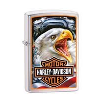 Isqueiro Zippo 29499 Classic Harley-Davidson  Mazzi Escovado -