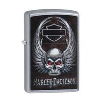 Isqueiro Zippo 29558 Classic Harley-Davidson Winged Skull Street -