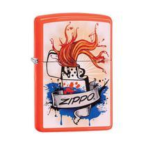 Isqueiro Zippo 29605 Classic Splash Laranja Neon -