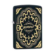 Isqueiro Zippo 29703 Classic Black  Gold Design -